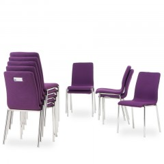 Excalibur Purple stacking chairs